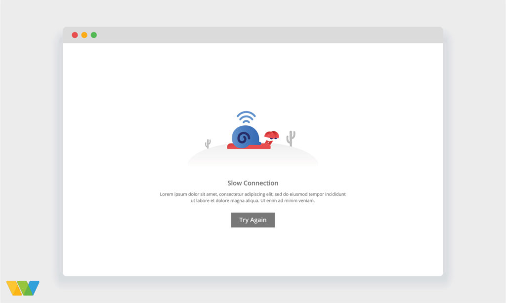 Slow Website Speed Illustration
